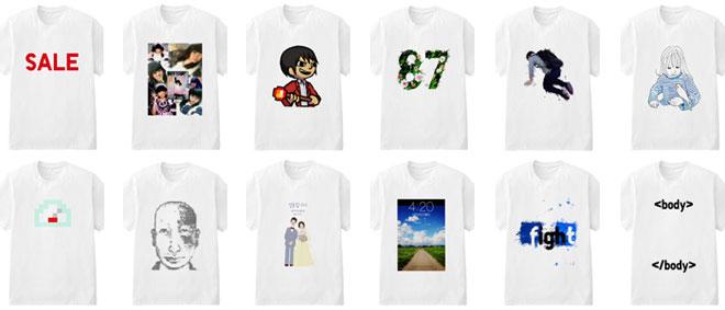 作成されたTシャツ